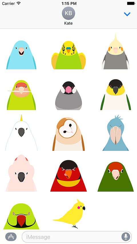 animated bird stickers